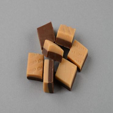 Fudge Vanille mit Schokolade